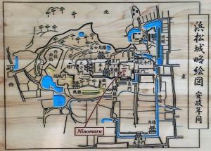 浜松城の城域図