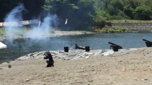 寄居北條祭りの大砲発射