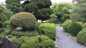 日野本陣の庭