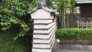 日野本陣の塀