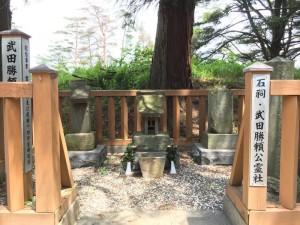 新府城の武田勝頼公霊社