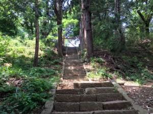 新府城の階段