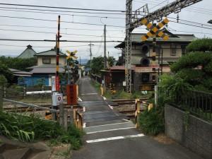 小田急線の踏切