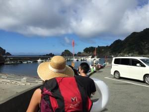 ヒリゾ浜への乗船場