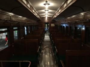 オハ31形式客車の中(鉄道博物館)