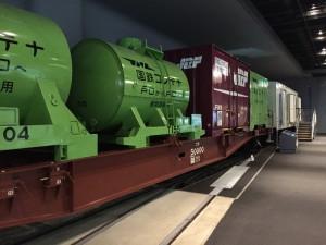 国鉄のコンテナ車(鉄道博物館)