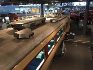 モハ484形式電車の屋根(鉄道博物館)