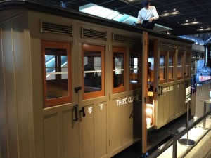 明治期の3等客車(鉄道博物館)