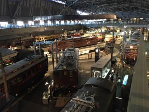 ヒストリーゾーンの全景(鉄道博物館)