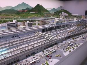 鉄道模型のジオラマ(鉄道博物館)