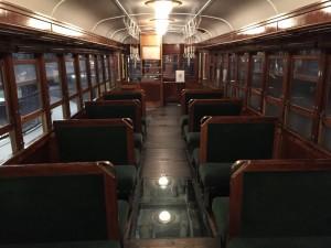 キハ41300形式気動車の車内座席(鉄道博物館)