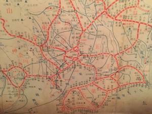 昭和9年頃の首都圏鉄道網(鉄道博物館)