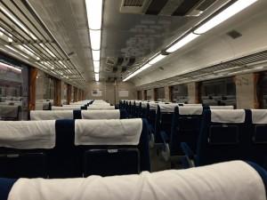 ひばり特急車両の座席(鉄道博物館)