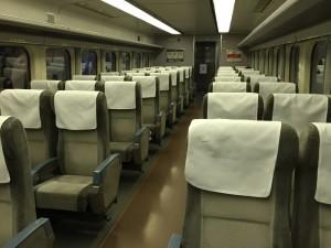 200系新幹線の車内座席(鉄道博物館)
