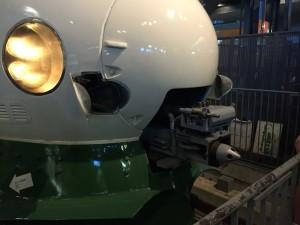200系新幹線の先頭車両「連結部」開放(鉄道博物館)