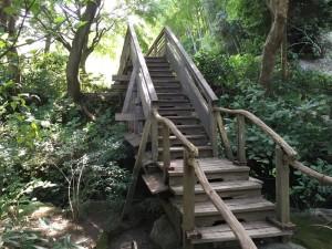 明月院の木橋