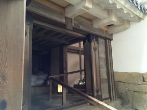 姫路城の天守入口