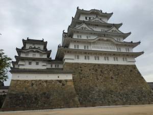 本丸から撮影した姫路城