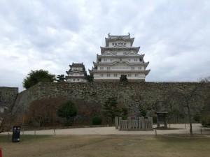 二の丸から望む姫路城
