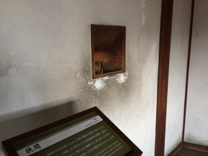 姫路城の狭間