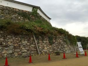 黒田官兵衛時代の姫路城の石垣