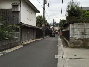 姫路城下の古い町並み