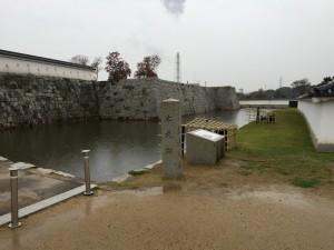 赤穂城の本丸脇にある内堀