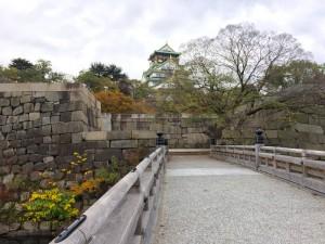 極楽口から撮影した大阪城
