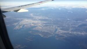 福山市の上空