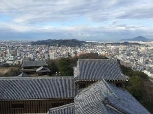 松山城の天守からの展望