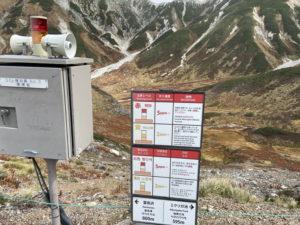 地獄谷からの火山ガス