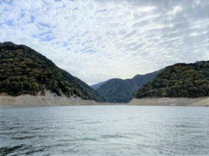 黒部湖の最奥部