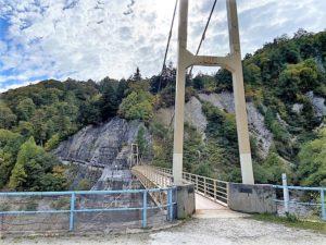 カンパ谷のつり橋