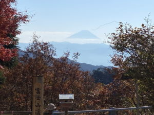 昇仙峡ロープウェイから富士山