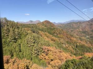 昇仙峡ロープウェイから紅葉