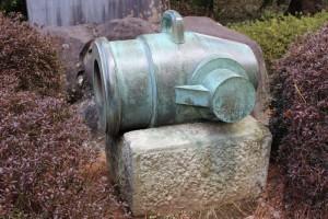 世界遺産「韮山反射炉」の大砲
