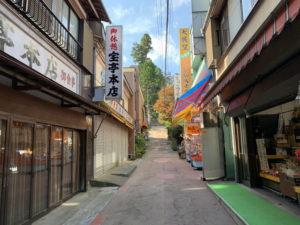 御岳山の商店街
