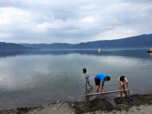 屈斜路湖「砂湯」