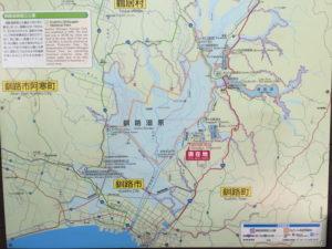 釧路湿原の地図