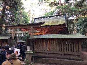 香取神宮の奥宮へ初詣