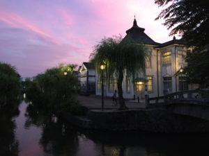 倉敷の夕方