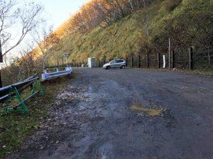 カムイワッカ湯の滝「駐車場」