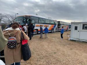 百里基地からシャトルバス