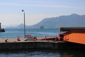 忠海港のフェリー乗り場
