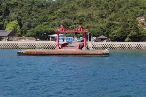 大久野島の桟橋