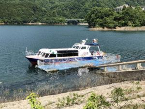 宮ヶ瀬湖畔の桟橋