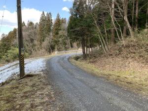 丹内山神社の道路