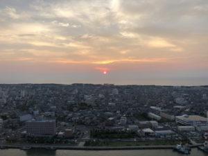 ホテル日航新潟からの展望