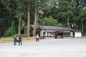 中尊寺・金色堂の入口