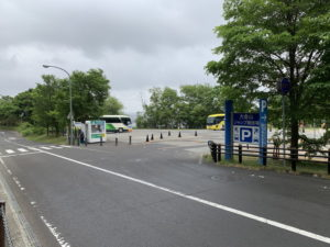 大倉山ジャンプ競技場の駐車場入口